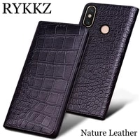 rykkz genuine leather phone case for xiaomi max 3 ultra thin flip cover handmake leather for xiaomi max 2 for 5 9 inch
