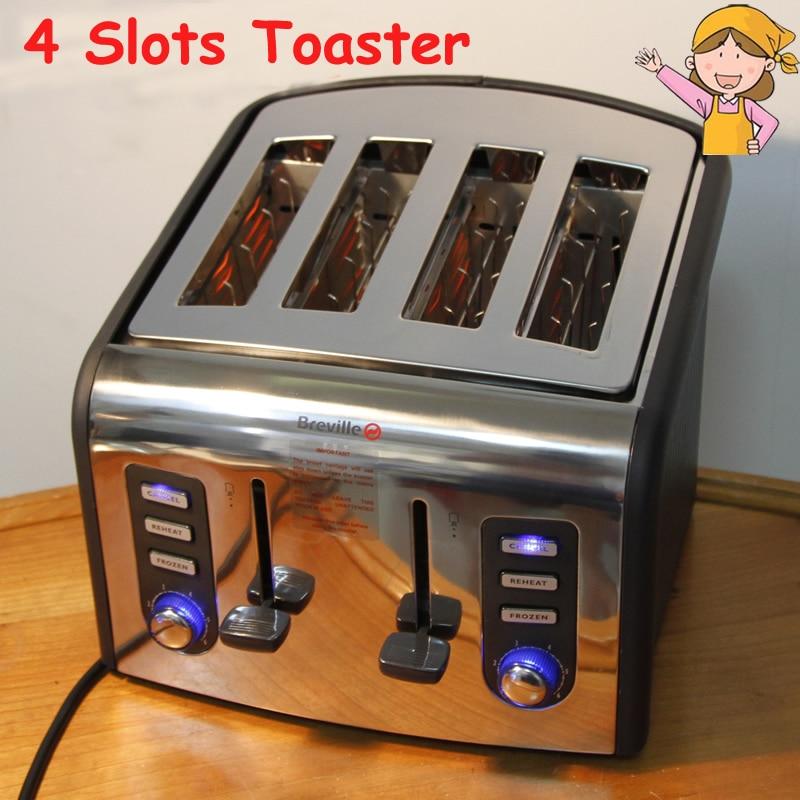 آلة الخبز الأوتوماتيكية من الفولاذ المقاوم للصدأ ، محمصة الإفطار المنزلية ، 220 فولت ، CFDQ004