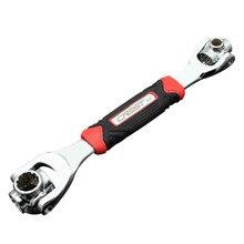 Regulowany magiczny klucz wielofunkcyjny cel narzędzia klucz Spanner narzędzi 48 w 1 360 stopni 6-punkt klucz tiger Wrench narzędzie do napraw samochodowych klucz grzechotkowy