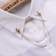 Broches de broche à chaîne en métal, Broches de broche Vintage en alliage Animal Broches de costume pour homme chemise de col épingle à revers cadeau pour femme