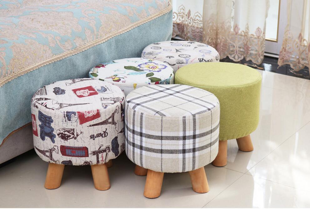 Креативный стул Массив дерева, ткань, диван, журнальный столик, табурет, домашняя скамейка, модная одежда, табурет для обуви, простой табурет