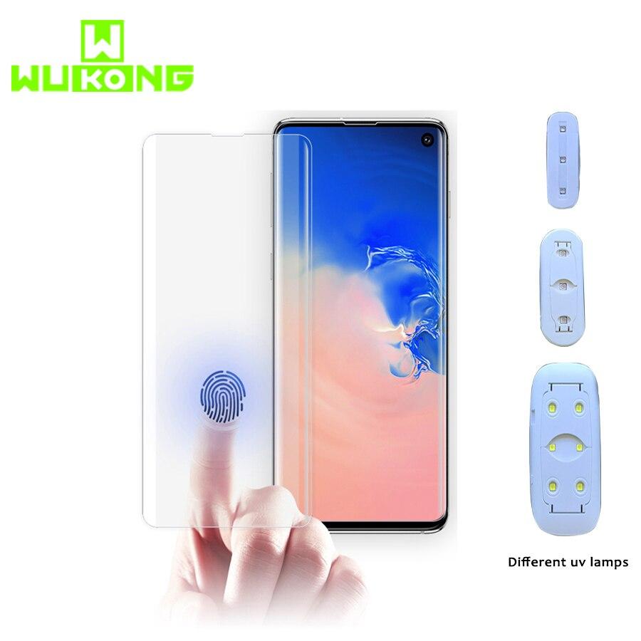 Pegamento UV Protector de pantalla para Samsung S10 Plus S10e pegamento total líquido vidrio templado con luz UV para Samsung Note 9 S8 S9 Plus