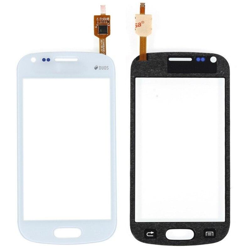 Tela sensível ao toque Para Samsung Galaxy S Duos S7562 GT-S7562 S7560 GT-S7560 4.0 Display LCD Digitador de Vidro