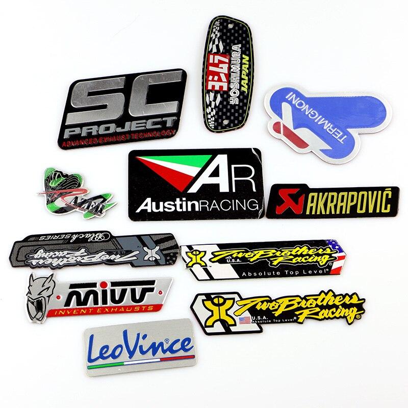 Pegatinas de tubería de escape de motocicleta de aluminio 3D resistentes al calor personalidad genial para Scorpio Yoshimura emblema etiqueta flecha