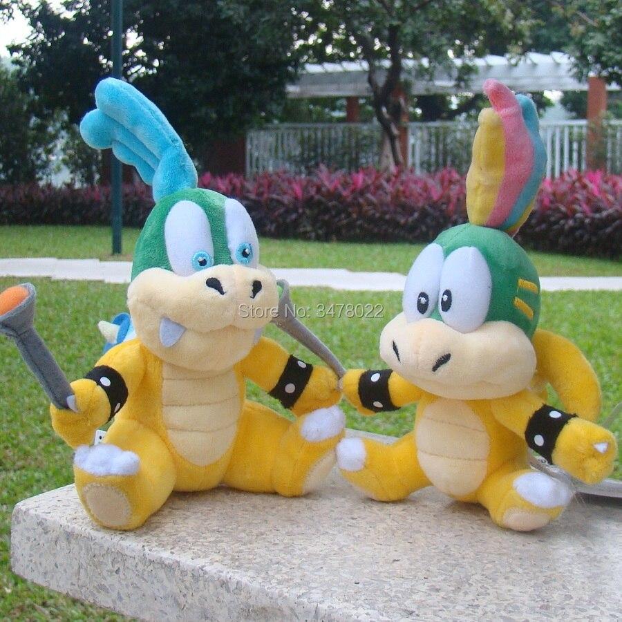 Larry y Lemmy Koopa Super Mario Bros, Mario juguetes de peluche Bowser Koopalings hijo juguete animal relleno de la muñeca de regalo