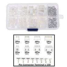 XH2.54 2p 3p 4p 5 pin 2,54mm Kit de Terminal/vivienda/Pin Header conector JST conectores de cable adaptador kits XH TJC3