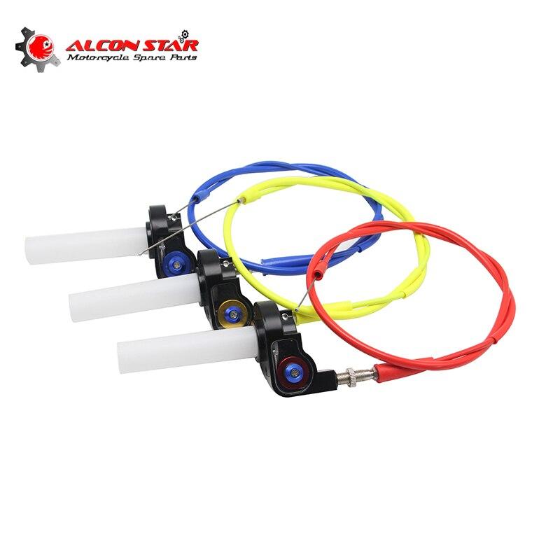 Alconstar-мотоциклетные визуальные ручки дроссельной заслонки с кабелем и поворотной газовой ручкой дроссельной заслонки велосипеды грязи ATV 50cc- 160cc KLX CRF 230