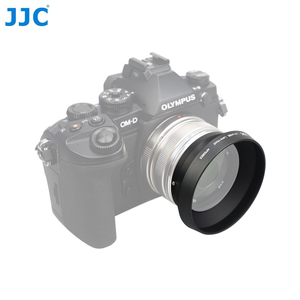 JJC parasol de lentes de Metal 46mm para OLYMPUS M objetivo ZUIKO DIGITAL 17mm F1.8 sustituye a LH-48B