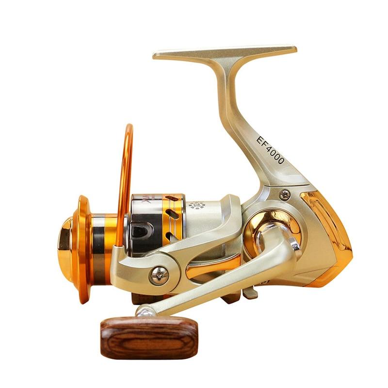 500-9000 series Distant Wheel Metal Spinning Fishing Reel 5.5:1 12 Bearing Balls Fishing Wheel Rotate the spool Fishing coil