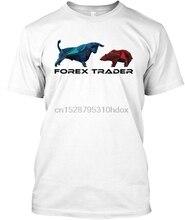 Camisetas impresionantes para hombre, camiseta de manga corta con cuello redondo para comerciante Forex