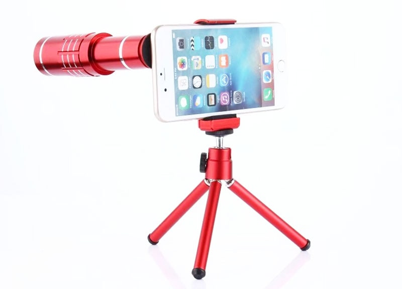 Clip de soporte trípode 8X 12X 18X teleobjetivo Len lente de telescopio de teléfono móvil para xiaomi mi MIX 2s rojo mi nota 5 Pro mi A1... mi nota 3