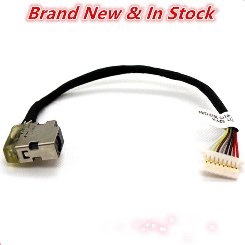Conector de toma de cable de alimentación DC Jack Cable de enchufe de puerto para HP ProBook 430 440 450 455 470 G3 804187-Y17