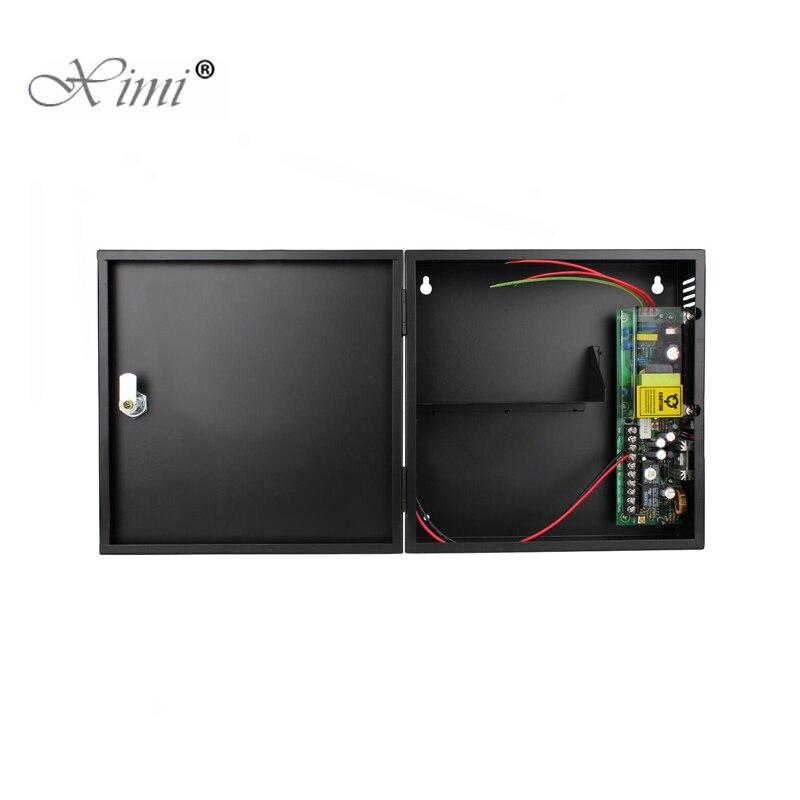 12 فولت/24V3A التحكم في الوصول صندوق امدادات الطاقة 110-240 فولت 50-60 هرتز تحويل التيار الكهربائي مع وظيفة احتياطية البطارية