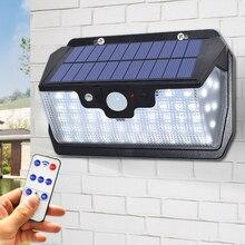 Lampe solaire à 55 led avec télécommande, imperméable, éclairage dextérieur, lumière Super brillante, applique murale, chargeur USB disponible, 800lm
