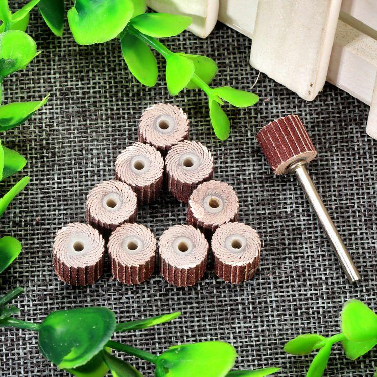 10 piezas Dremel accesorios 240-grano lijado disco de solapa lijado - Herramientas abrasivas - foto 6
