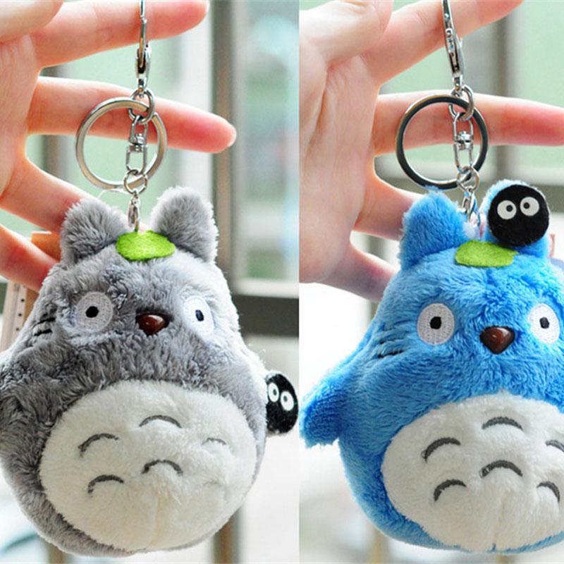 10cm de Kawaii mi vecino Totoro anime de peluche Totoro juguetes de peluche llavero de peluche muñeca de Totoro