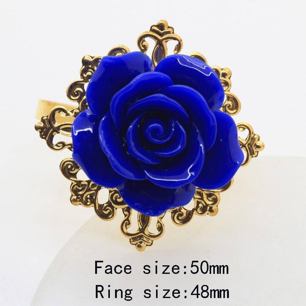 Новинка, синее женское кольцо, Золотое декоративное железное кольцо для салфеток, держатель для свадебной таблицы, банкета