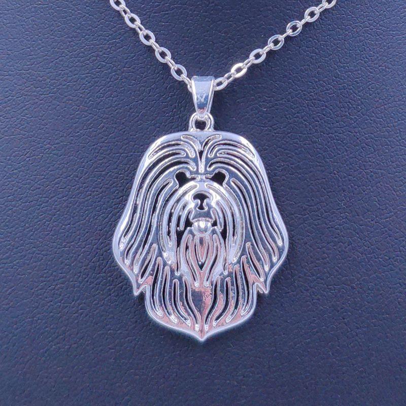 2020 neue Nette Lowchen Halskette Hund Tier Anhänger Gold Silber Überzogene Schmuck Für Frauen Weibliche Mädchen Kinder Damen AKC REGISTRIERT N116
