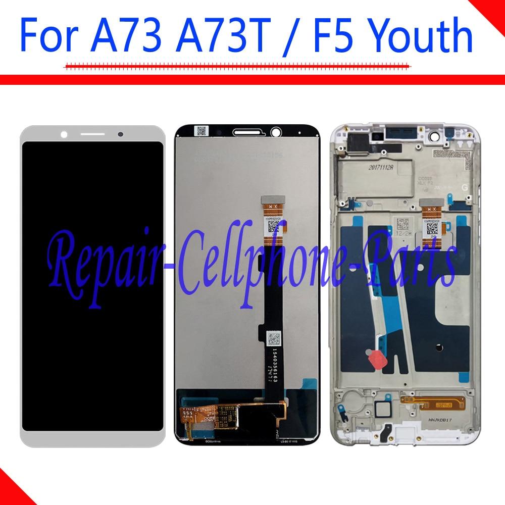 Negro/Blanco 6,0 pulgadas nueva pantalla LCD completa + MONTAJE DE digitalizador de pantalla táctil con reemplazo de marco para OPPO A73 a73T/F5 Juventud