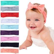 New Adorable Boho Newborn Toddler Headband Ribbon Elastic Baby Headdress Kids Hair Band Girl Bow Kno
