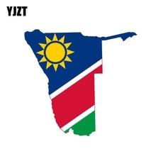 YJZT 14.3CM*13.6CM Funny Namibia Flag Decal Helmet Map Windows Car Sticker 6-0903