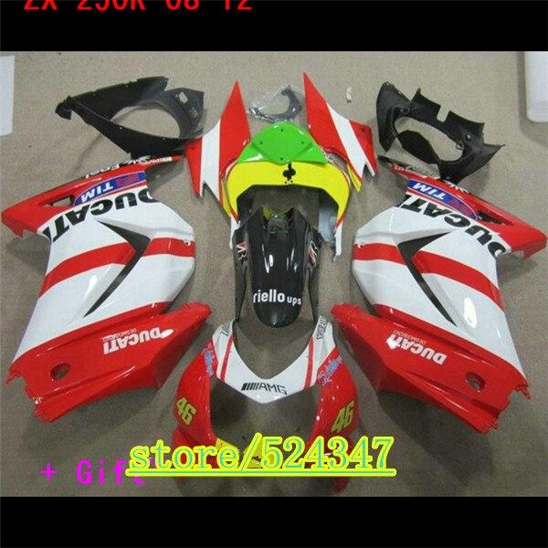 Kit de Carenado por inyección para Kawasaki Ninja 250r 08-12, de moldeo...