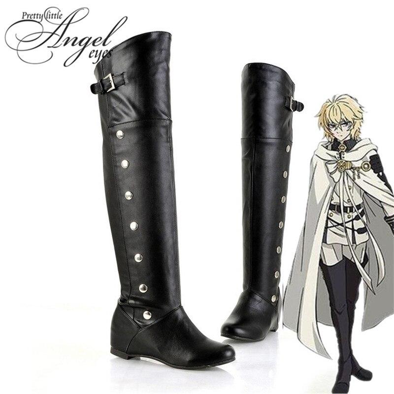 Anime Seraph of the end Mikaela Hyakuya Cosplay Shoes  Custom Made Shoes