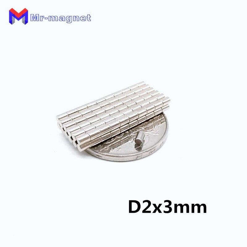 2000 шт. 2x3 мм agnet постоянный N35 D2 * 3 мм 2x3 сверхпрочный Мощный маленький круглый магнитный диск Диаметр 2x3