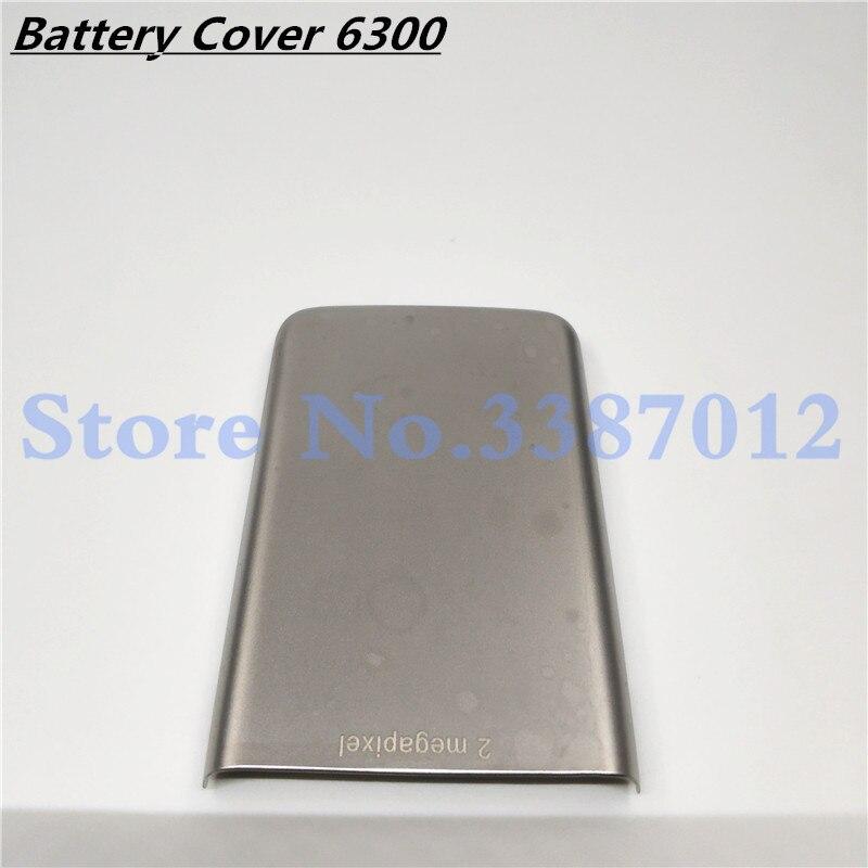 Cubierta de batería de metal trasero Original de buena calidad para Nokia 6300 carcasa de tapa trasera de batería