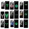 Funda de cristal luminoso Marvel Venom para Huawei P30 pro P20 Mate 20 Lite vengadores Captain America funda trasera para Honor 10 8X 9 Lite