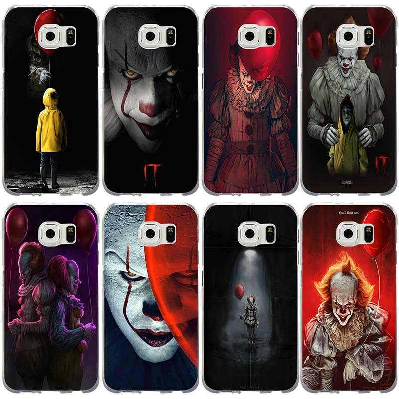 Teléfono casos para Samsung Galaxy Note 3 4 5 8 S3 S4 S5 Mini S6 S7 S8 S9 S10 lite Edge Plus cómic It payaso flotarás también