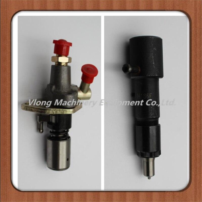 Cultivador de motor diésel de un solo cilindro refrigerado por aire 186F 186FA generador diesel Bomba de montaje de bomba de combustible