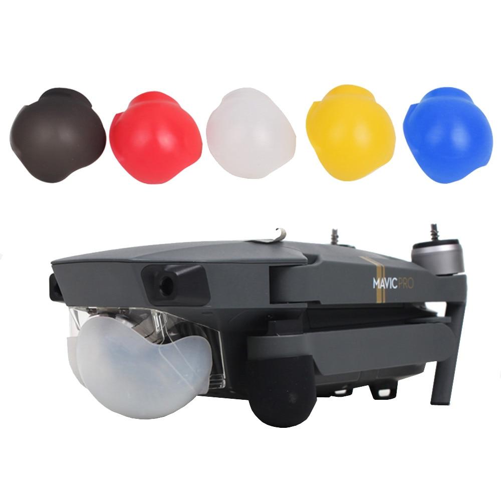 Zangão protetor de silicone cardan câmera lente caso capa protetora escudo para dji mavic pro 6m16 transporte da gota