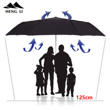 TOPX مظلة كبيرة الرجال يندبروف طبقة مزدوجة مظلة قابلة للطي المطر النساء التلقائي مظلة الغولف للرجل شركة المظلة