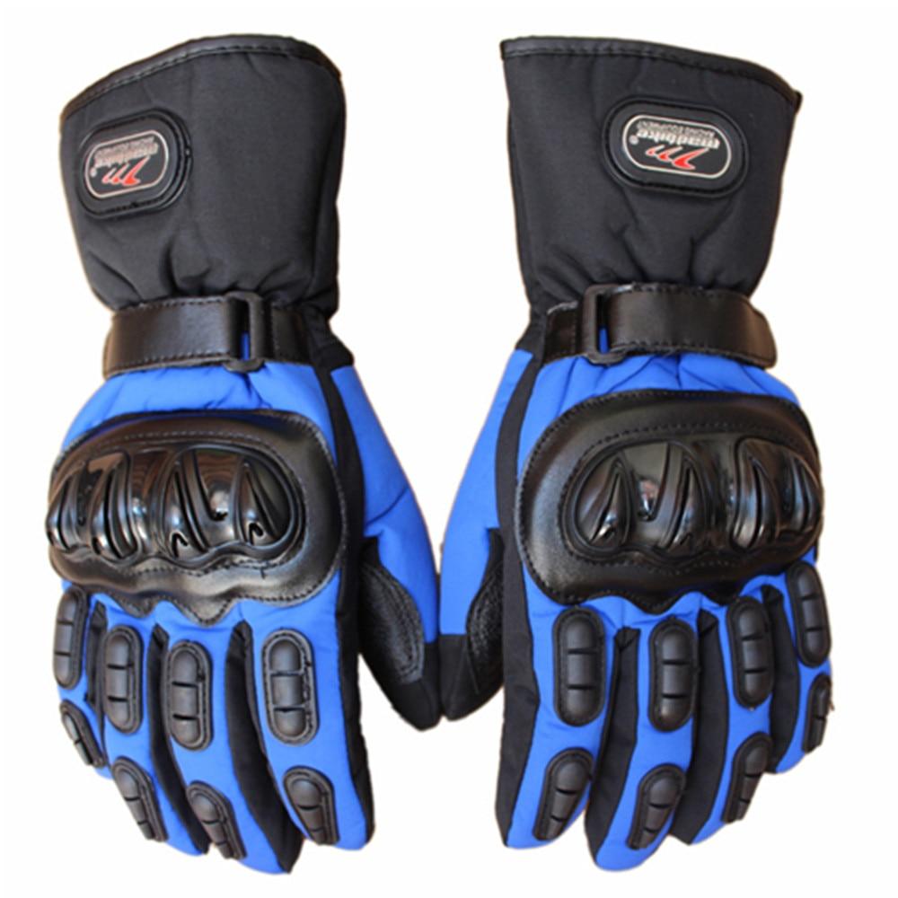 1 Pair Winter Motorcycle Waterproof Warm Motocross Racing Motos Motorbike Cycling Glove Black Blue Red Polyester & Cotton enlarge