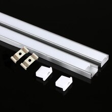 10-20 pcs DHL 1m LED Aluminum Profile for 5050 5730 LED Hard Bar LED Light Aluminum Case with Cover End Cover