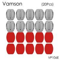 Клейкие наклейки для Gopro Hero 5, 4, 3, SJ4000, Eken, VP106E, 20 шт