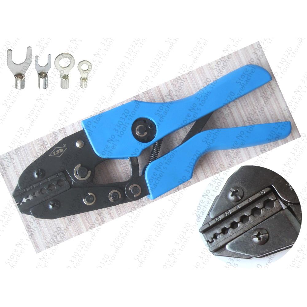 AN-110TX ratchet non-insulated terminal crimping tool,crimp range 1-10mm2 hexagon type