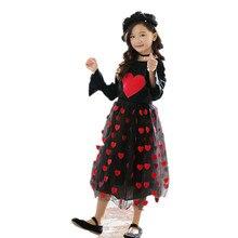Jupe dautomne pour filles de 2-14 ans   Longue, vêtements 2018, avec imprimé coeur, pour enfants