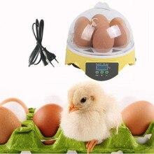 Hazy Mughal EU Plug 7 яиц цифровой инкубатор Автоматическая птица утки куриные яйца инкубатор машина 110 в 30 Вт