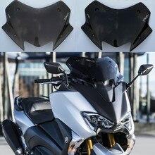 Pare-brise à bulles pour Yamaha   Moto TMAX 530 17 18 TMAX530 2017 2018 pare-brise et fumée noir clair, acrylique déflecteur de vent