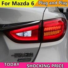 Car Styling TailLight Case For Mazda 6 Atenza Sedan 2014 2015 Taillights LED Tail Lamp Rear Lamp DRL+Brake+Park+Signal light