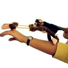 25cm nouvelle patte drôle jouets belle nouveauté singe volant hurlant fronde jouets en peluche enfants cadeau