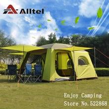 Alltel einer halle zwei schlafzimmer ultra super starke wasserdichte doppel schicht mit moskito net große familie camping zelt