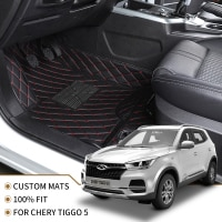 Flash mat leather car floor mats for Chery Tiggo 5X 2017 2018 2019 2020 Custom foot Pads automobile carpet cover