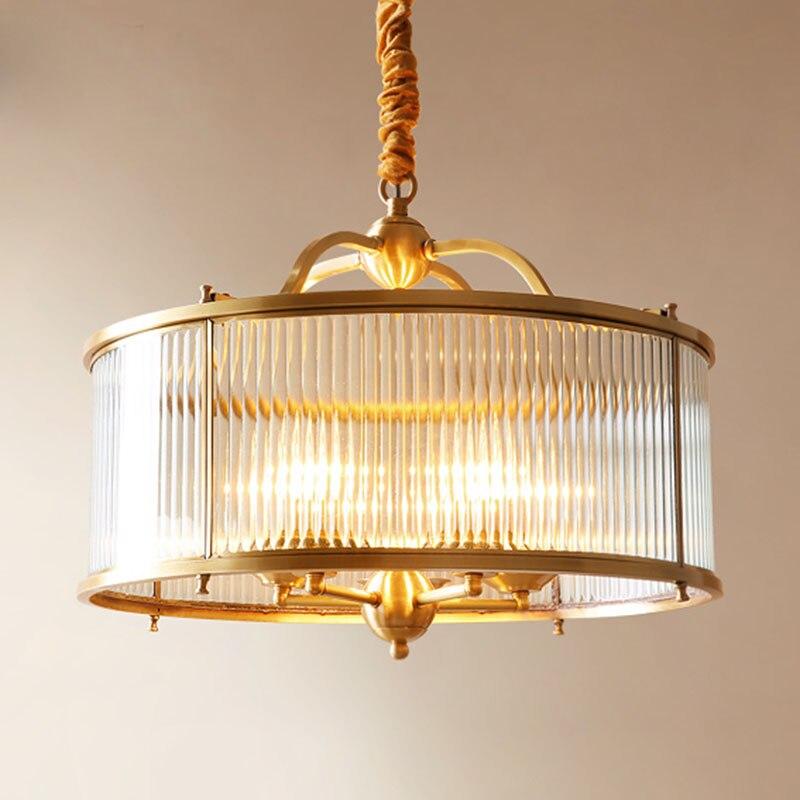 النحاس الأمريكي D50cm قلادة ضوء الذهب LED تعليق مصباح ل صالون غرفة نوم رومانسية غرفة الأطفال نجفة PA0144