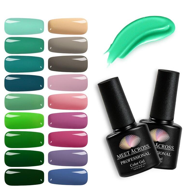 Маникюрный полуперманентный лак для ногтей, 7 мл, 148 цветов, УФ-светодиодный Гель-лак для ногтевого дизайна, маникюрный лак