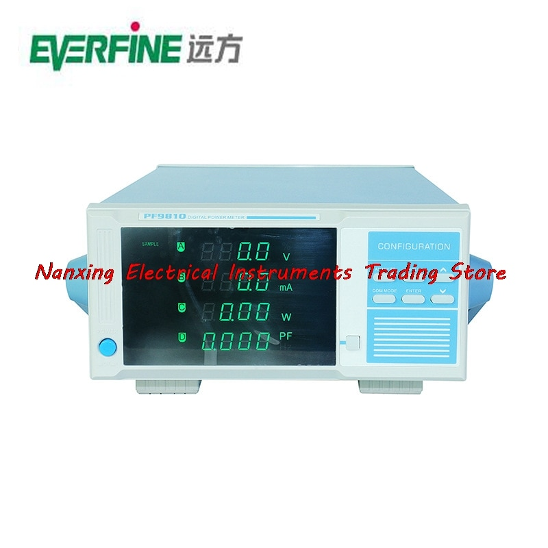 Chegada rápida PF9810 EVERFINE MEDIDOR de ENERGIA DIGITAL (HARMONIC MODELO) 600 V, 2000mA