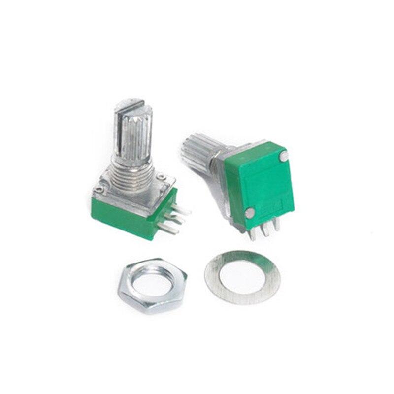 10 Uds amplificador de Audio sellado potenciómetro 15mm del Eje 3 pines RK097N B5K B10K B20K B50K B100K