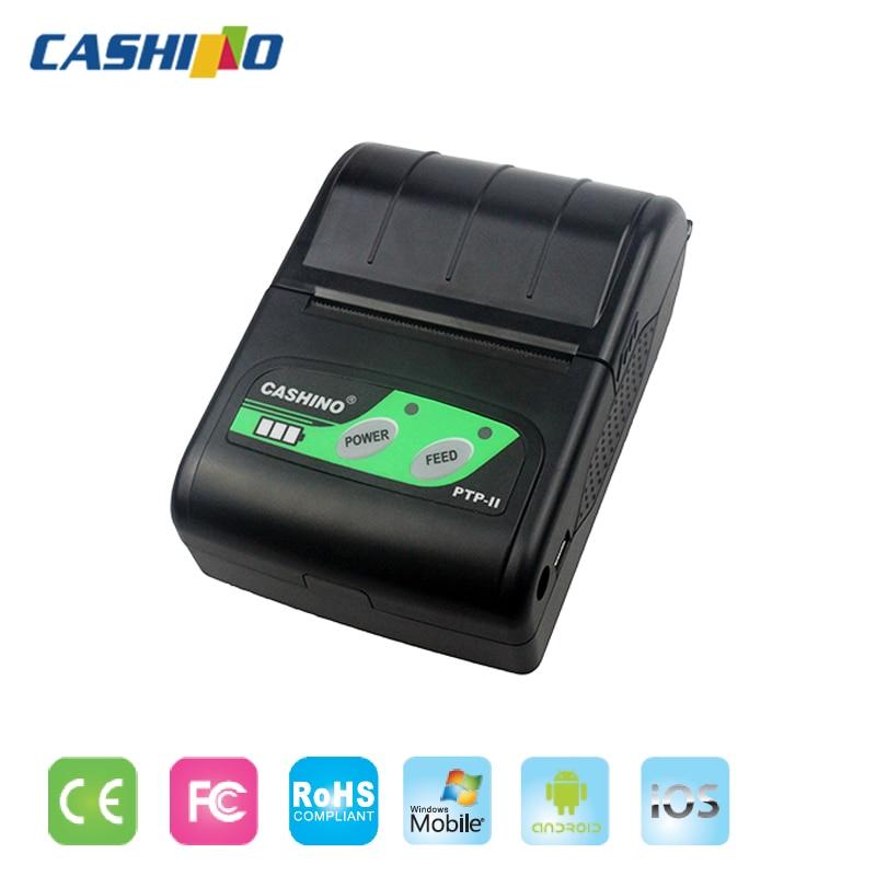 CASHINO 58mm mini portátil recibo impresora bluetooth para Android y IOS PTP-II (USB + BLUETOOTH)